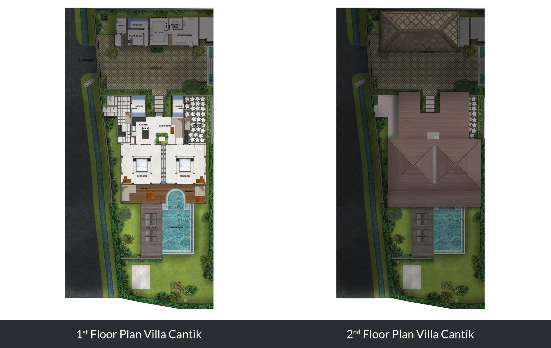 Villa Cantik 2 Bedroom Villa Pool Villa Seseh Beach Bali Bali Villas Villa Bali For Rental
